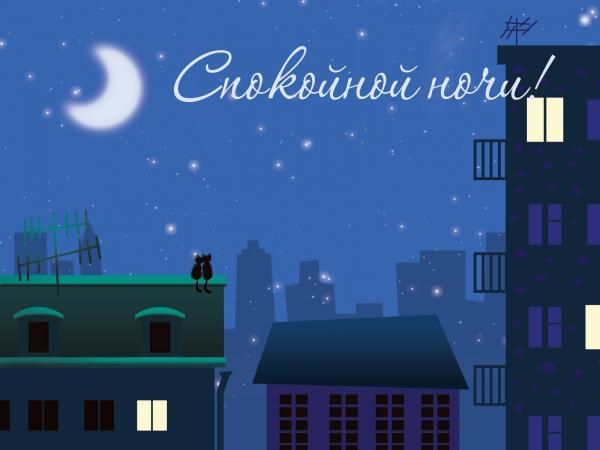 картинки спокойной ночи настя
