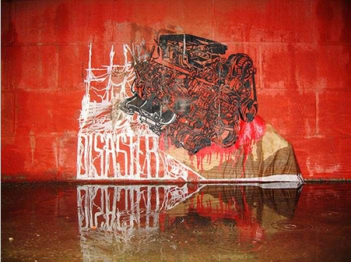 Граффити на стенах улиц 45 фото