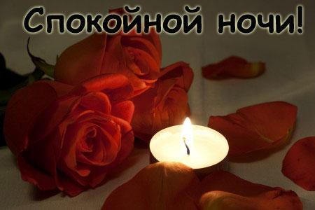 Спокойной ночи с цветами девушке