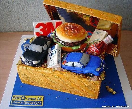 фото прикольных тортов на день рождения