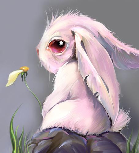 Кролик грустный картинки