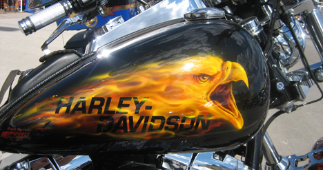 аэрография на баке мотоцикла фото
