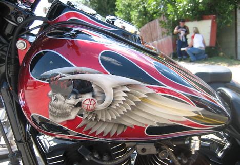 фото аэрография бак мотоцикла
