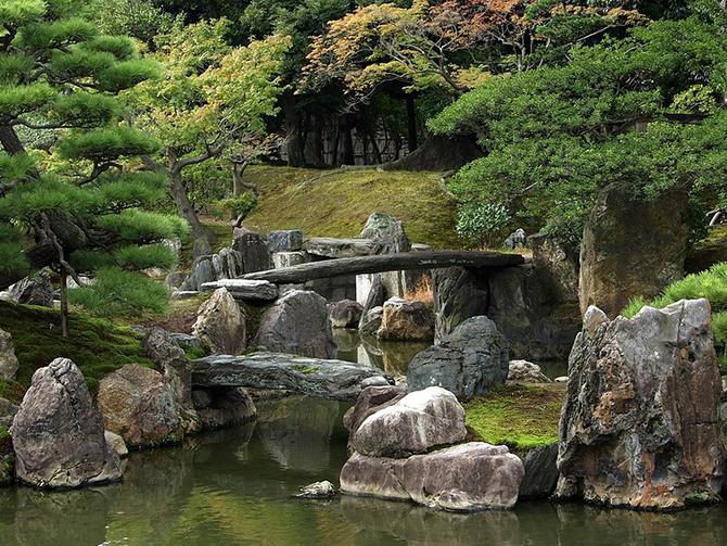 Сады в замке Нидзё (18 фото)