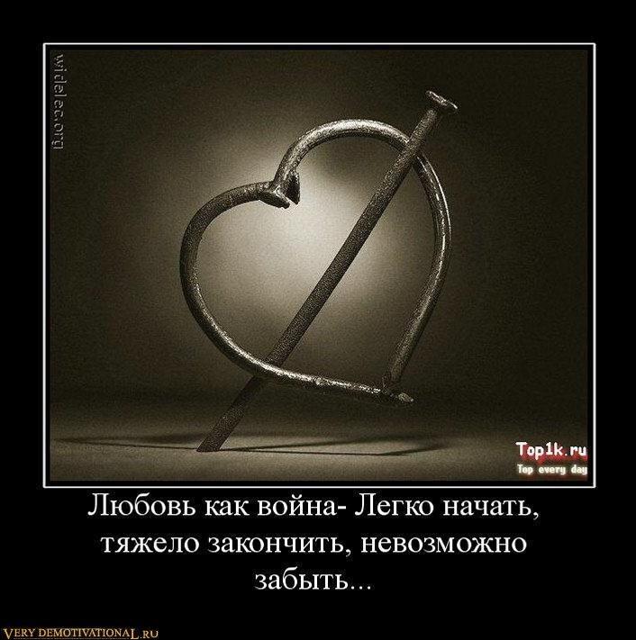Крутые демотиваторы про любовь