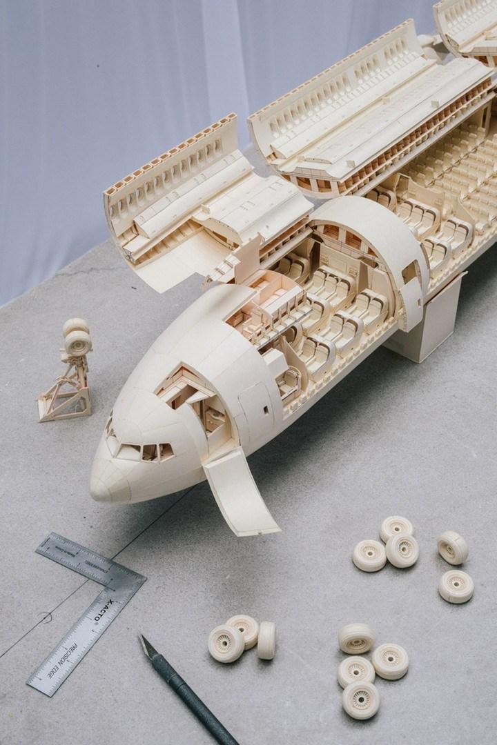Бумажный макет Боинга 777 (15