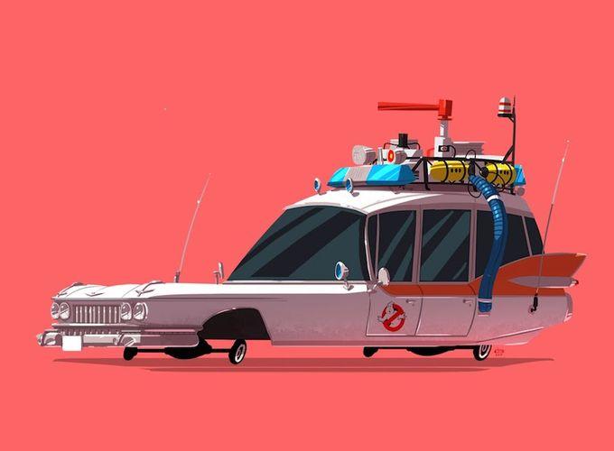 Знаменитые нам автомобили в карикатурном стиле (8 фото)