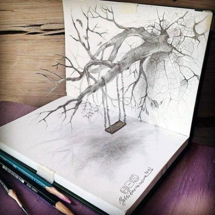 картинки 3d нарисованные карандашом