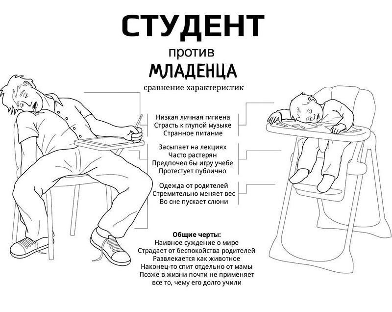 прикольные картинки про студентов: