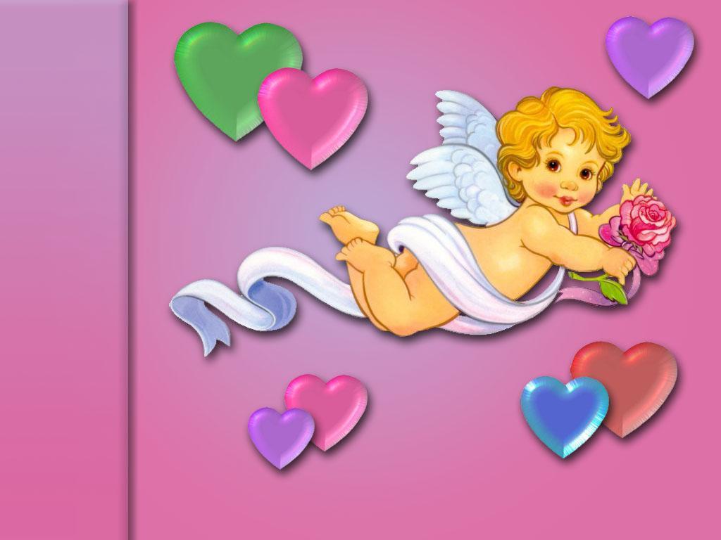 Ангелы любви на открытку 732