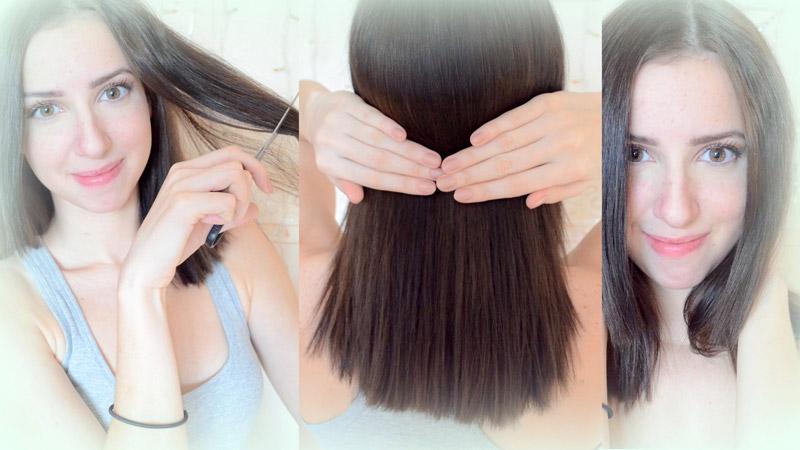 Как самому пострич волосы 734