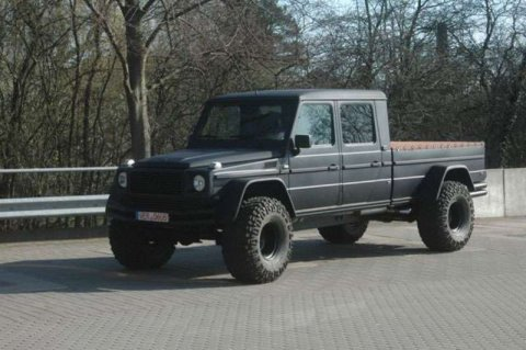 Мощный тюнинг Mercedes-Benz G 500 Pickup (8 фото)