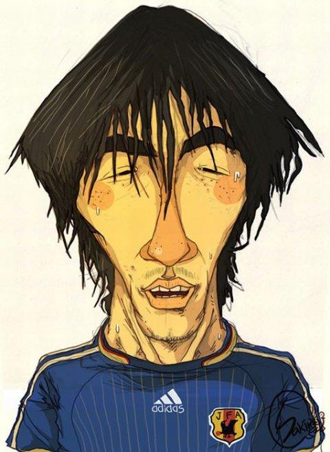 Карикатуры на футболистов (21 фото)